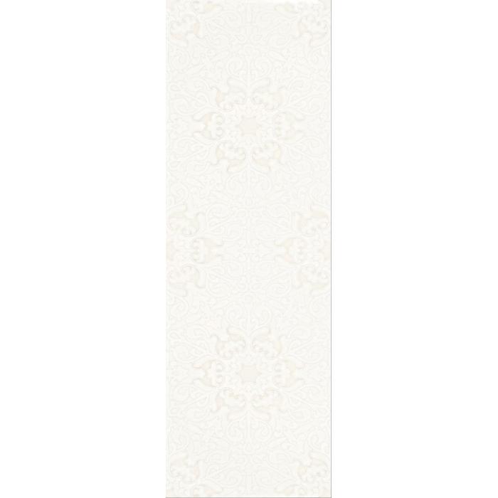 Текстура плитки Velatia Bianco Inserto Kwiat 32.5x97.7