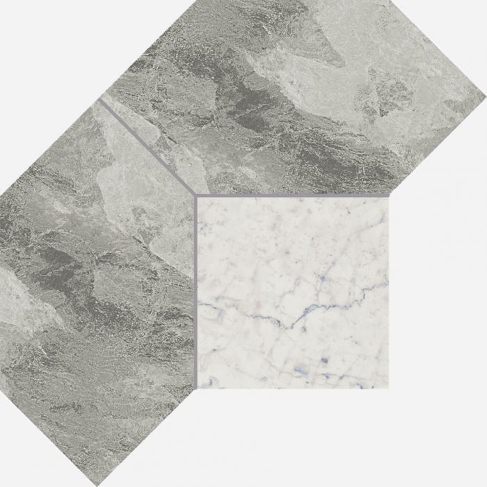 Текстура плитки Шарм Экстра Сильвер Мозаика Полигон 28,5х21 (0,04м2)