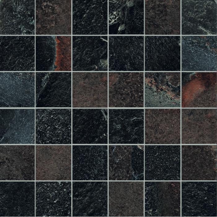 Текстура плитки High Line Mosaico Madison Nat Ret (5x5) 30x30