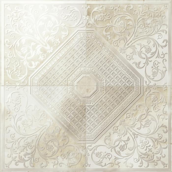 Текстура плитки Aethernity Comp. Rosone Beige 120x120