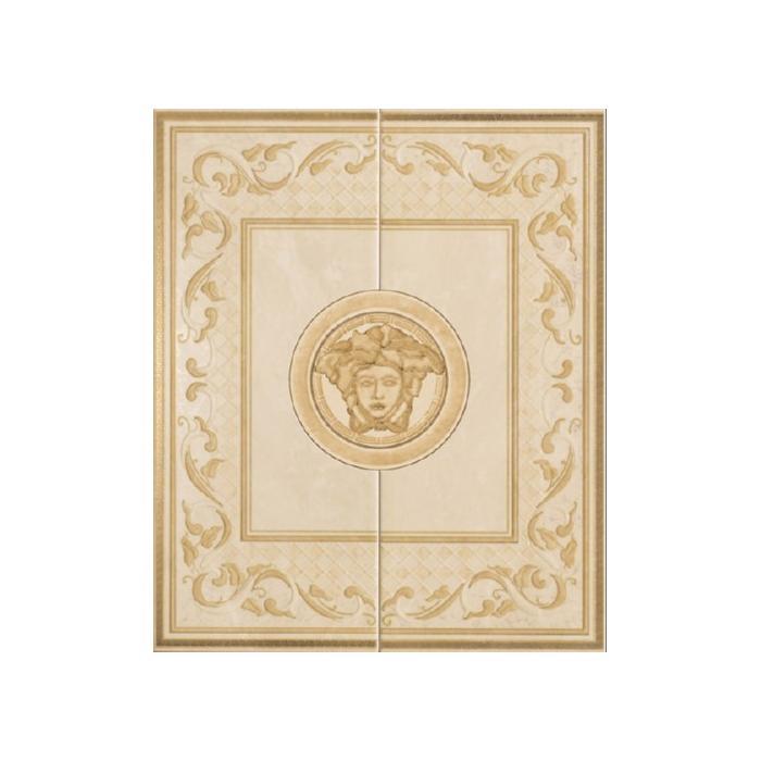 Текстура плитки Venere Comp.Versace Beige/Oro/Noce 50x60