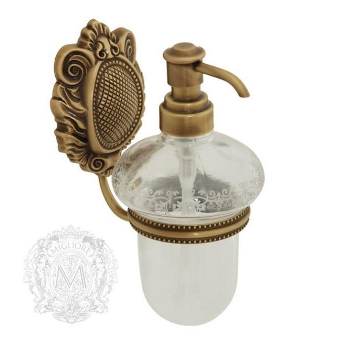 Фото сантехники Cleopatra Дозатор жидкого мыла настенный,стекло прозрачное с матовым декором