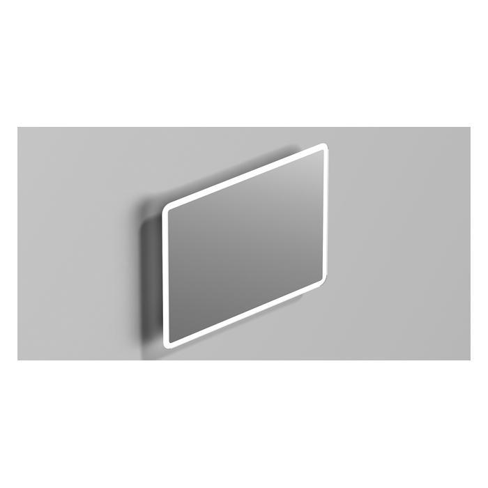 Фото сантехники Зеркало 80x60 с подсветкой, закругленный углы