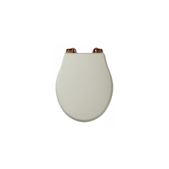 Фото сантехники Impero Крышка для унитаза с системой Microlift, цвет слоновая кость/бронза