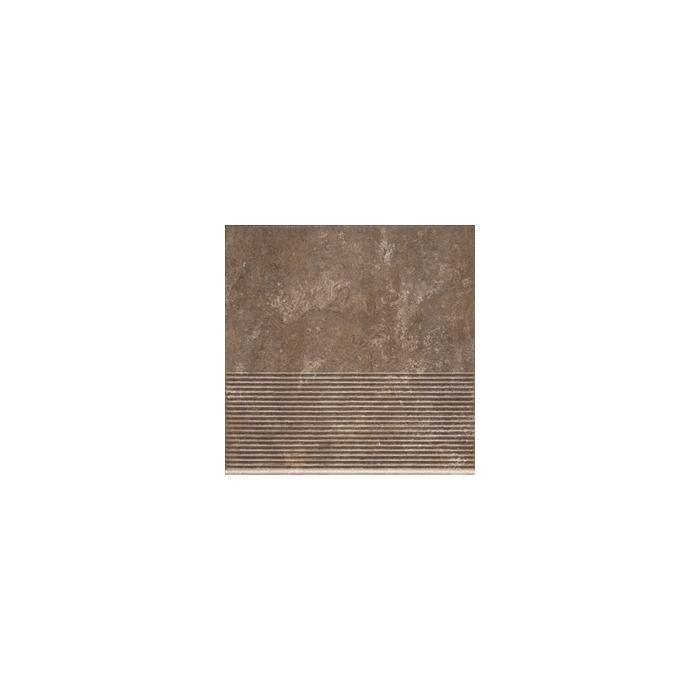 Текстура плитки Ilario Brown Stopnica 30x30
