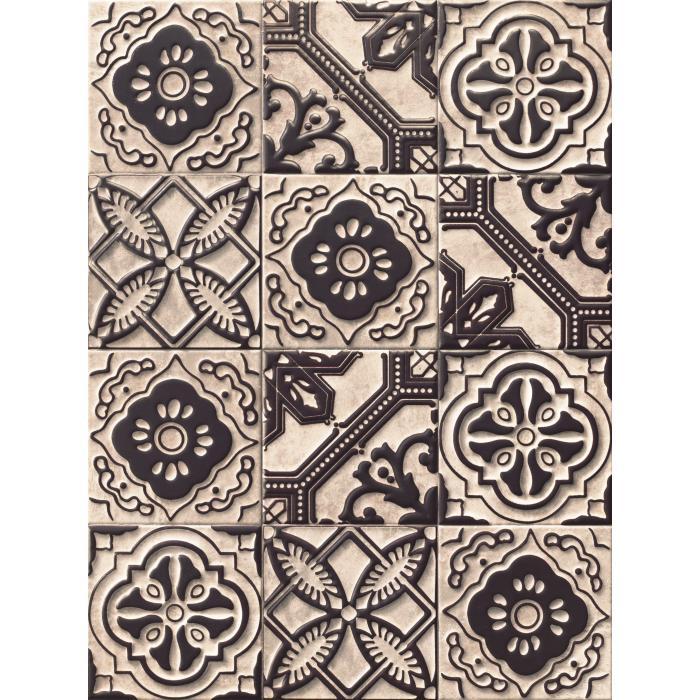Текстура плитки Relief Titanium 20x20 - 2