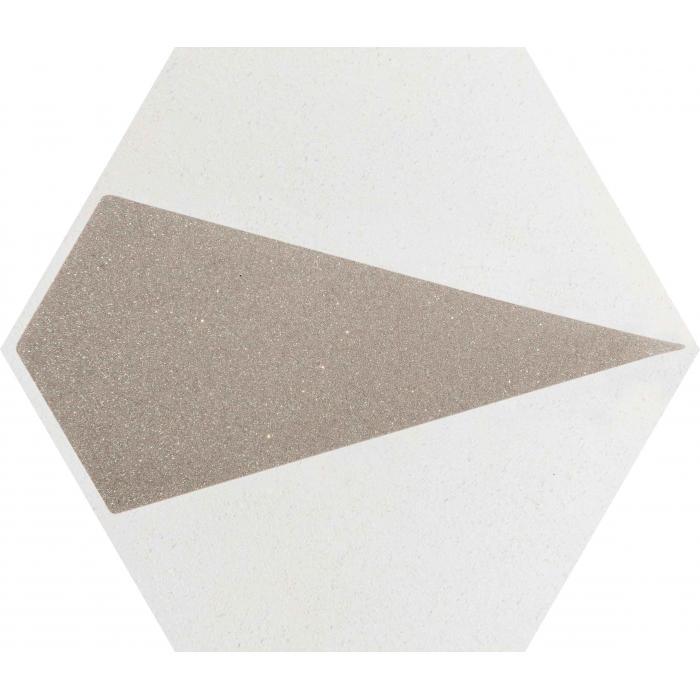 Текстура плитки Esagon Concrete Silver Inserto A 17.1x19.8