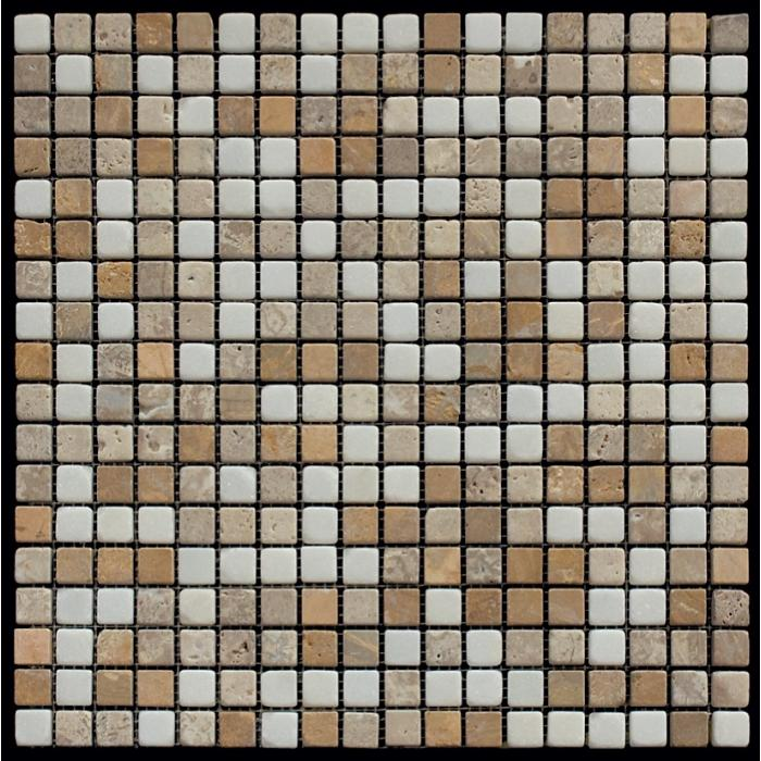 Изображение Mix Мозаика мрамор MT-02-15T (MT-07) 1,5х1,5