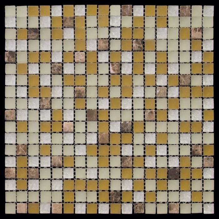 Изображение Mix Glass&Stone Мозаика микс 'PST003-15 1,5х1,5