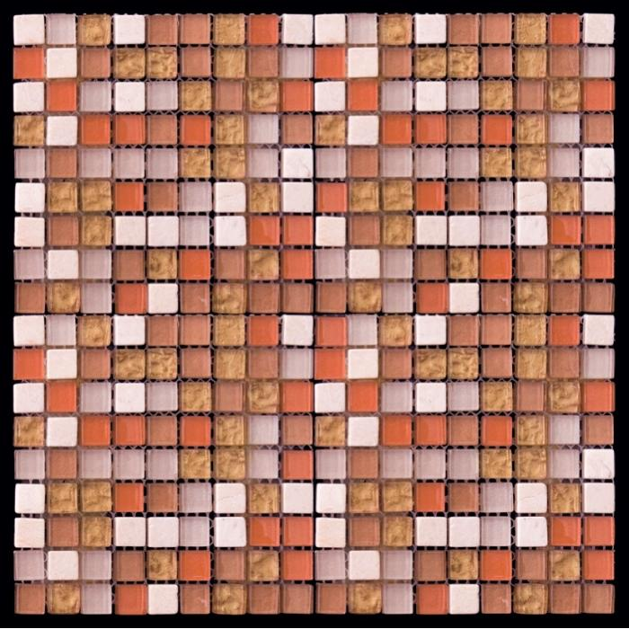 Изображение Mix Glass&Stone Мозаика микс PST006-15 1,5х1,5