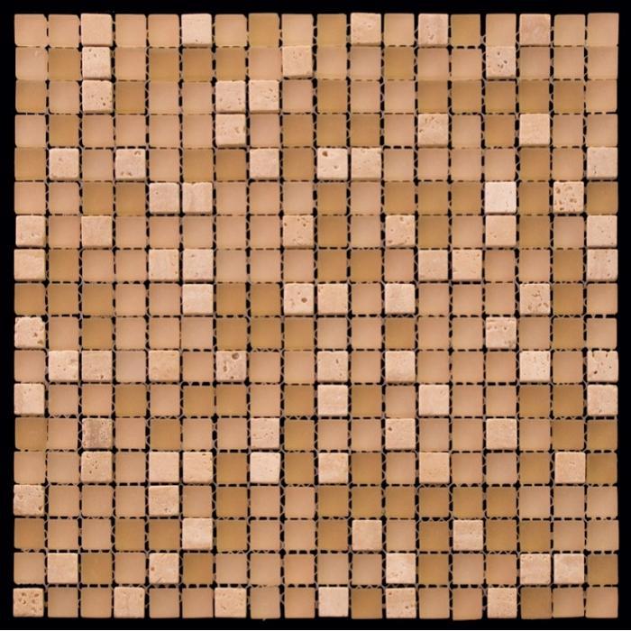 Изображение Mix Glass&Stone Мозаика микс PST010-15 1,5х1,5