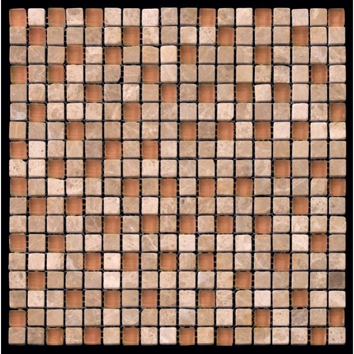 Изображение Mix Glass&Stone Мозаика микс PST013-15 1,5х1,5