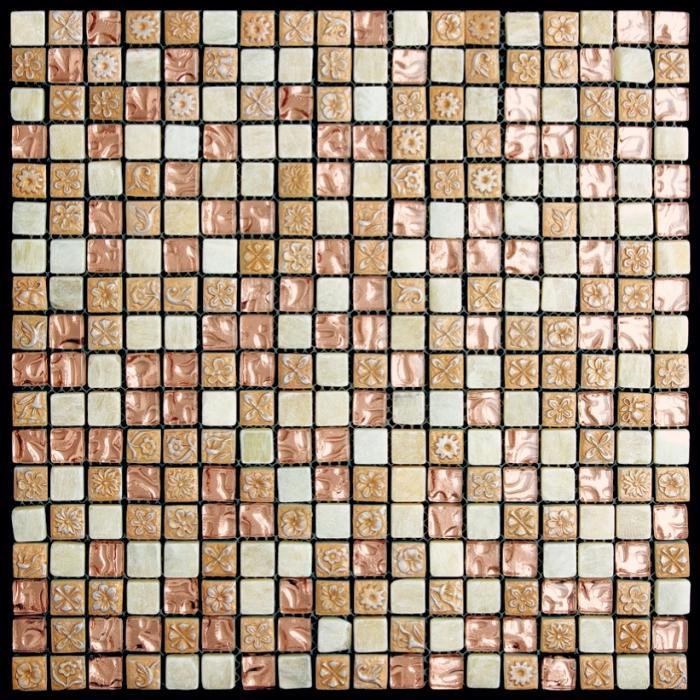 Изображение Mix Glass&Stone Мозаика микс PST-106 (MJ-106) 1,5х1,5