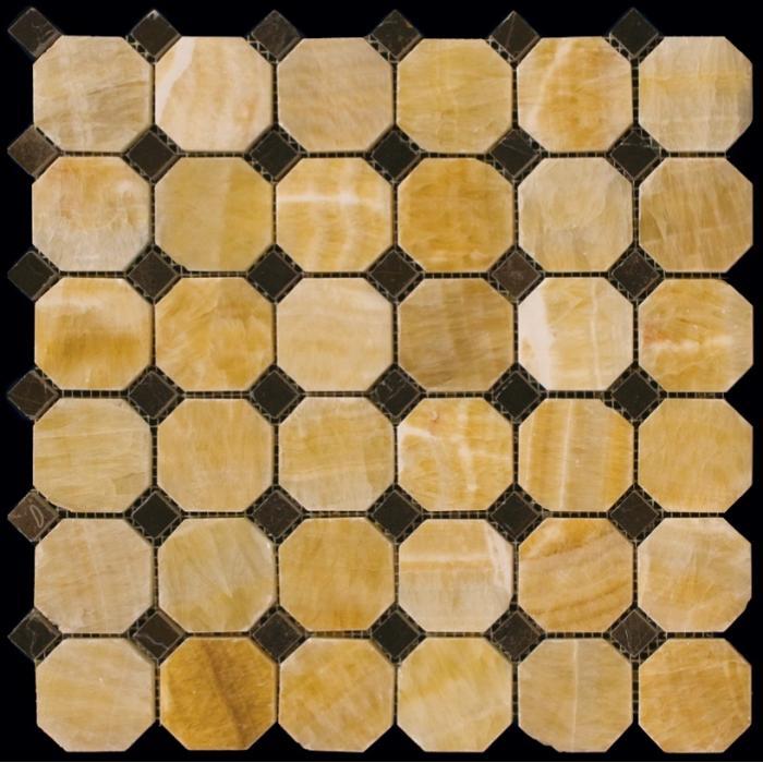Изображение Octagon1 Мозаика полированная M073+M076-BP 5х5