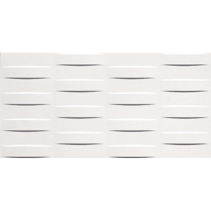 Текстура плитки Dwell 3D Grid Off White 40x80
