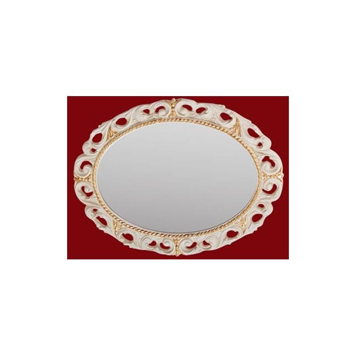 Фото сантехники Зеркало овальное 70x89x3,5 см, цвет золото