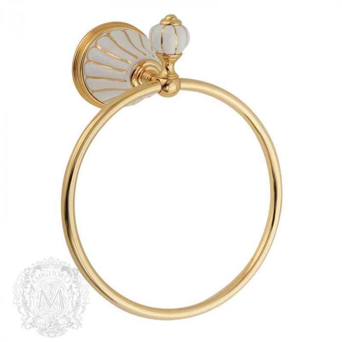 Фото сантехники Olivia Полотенцедержатель-кольцо (с декором), золото