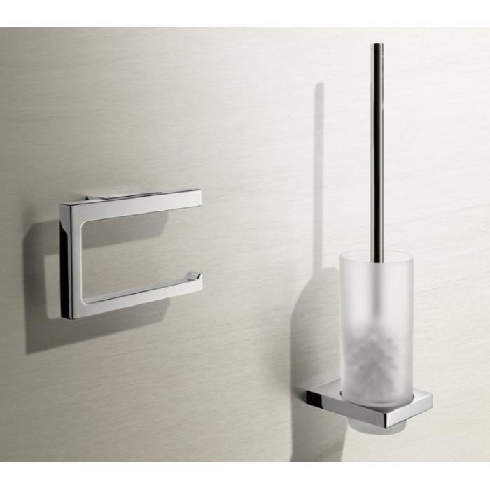 Фото сантехники Туалетный ёршик, хрустальное матовое стекло/ хром - 2