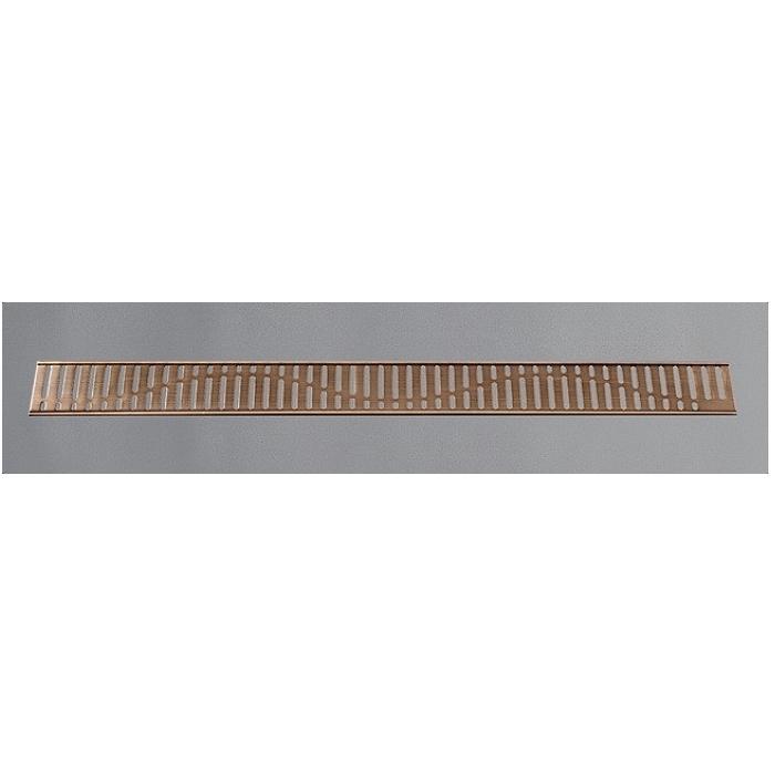 Фото сантехники Решетка для канала для душа Волна L=685мм, цвет тосканская бронза глянец