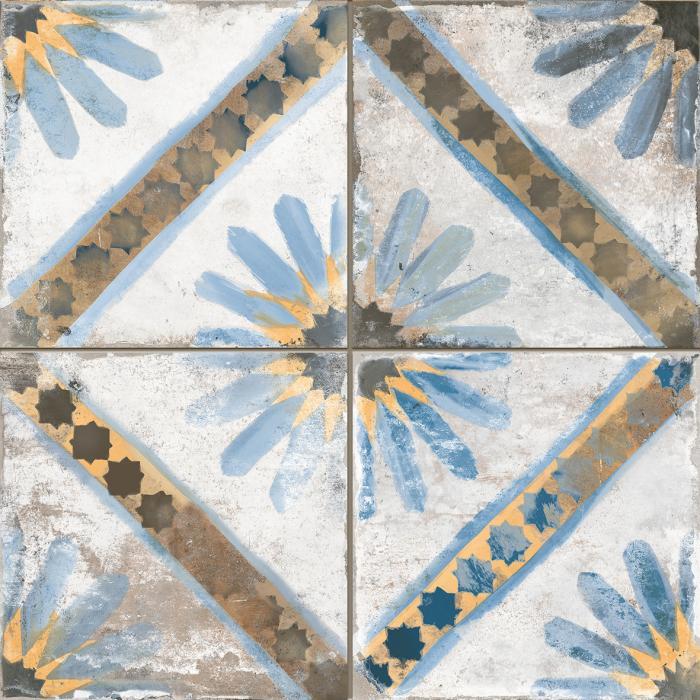 Текстура плитки FS Marrakech Blue 45x45
