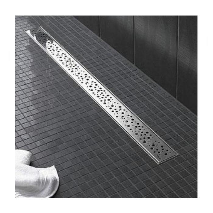 Фото сантехники Решетка DrainLine дизайн Drops 1000мм, полированный хром