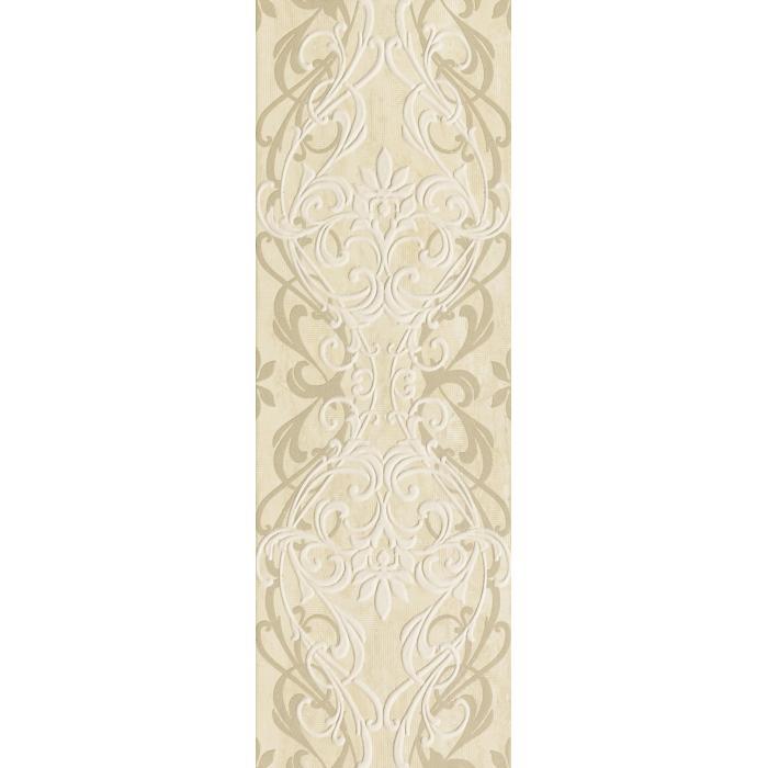 Текстура плитки Травертино Вставка Арабески 25x75
