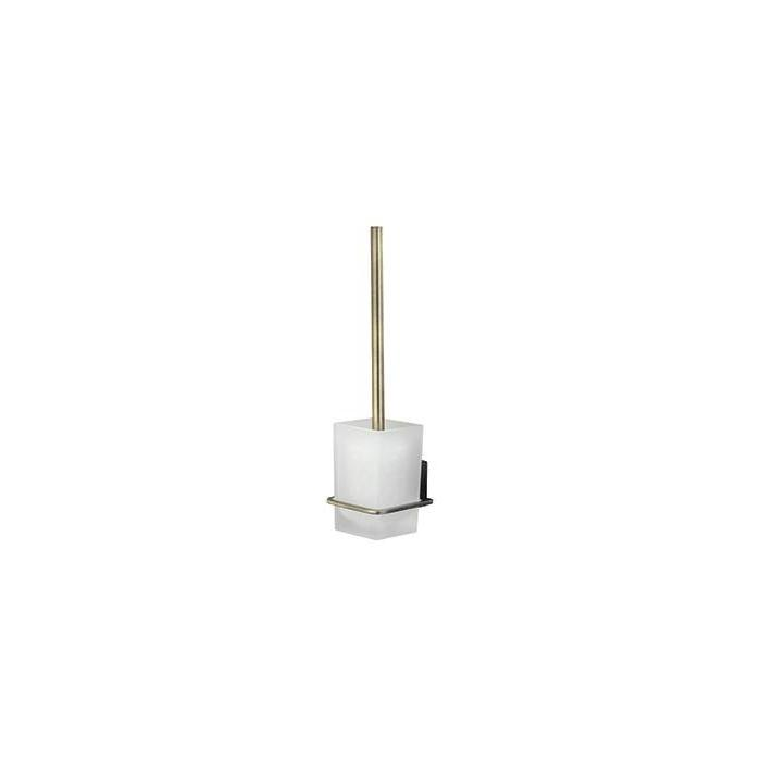 Фото сантехники Exter Щетка для унитаза, с подств, навесная, светлая бронза, 38,5см