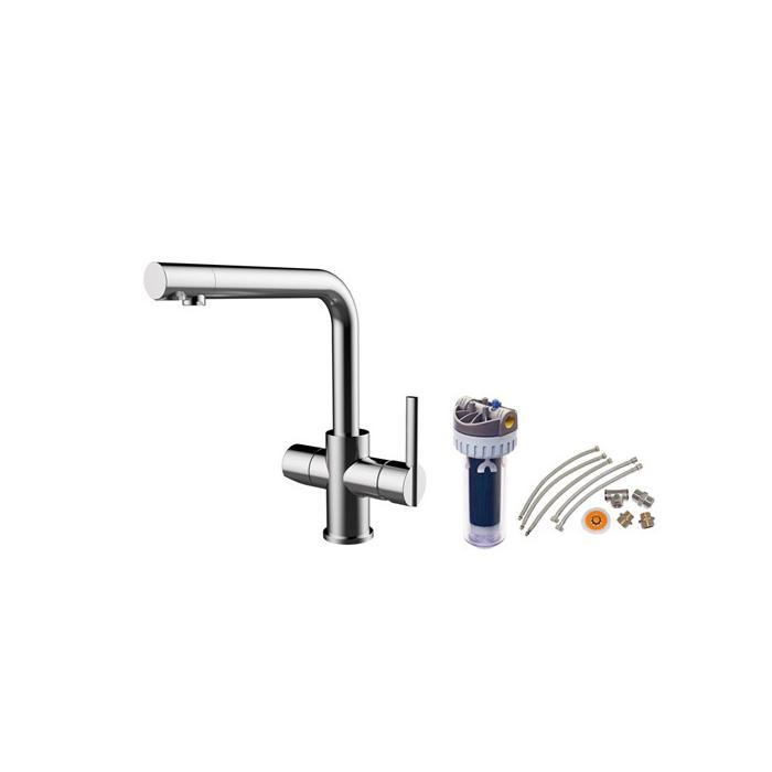 Фото сантехники Смеситель для кухонной мойки со встроенным краном питьевой воды, с фильтром на 2800л, хром - 2