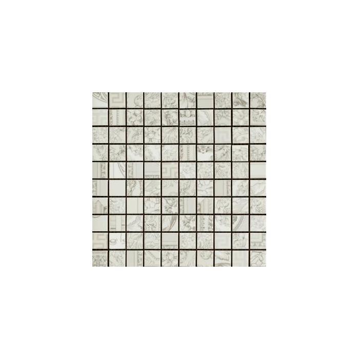 Текстура плитки Gold Mosaici Patchwork Bianco 25х25