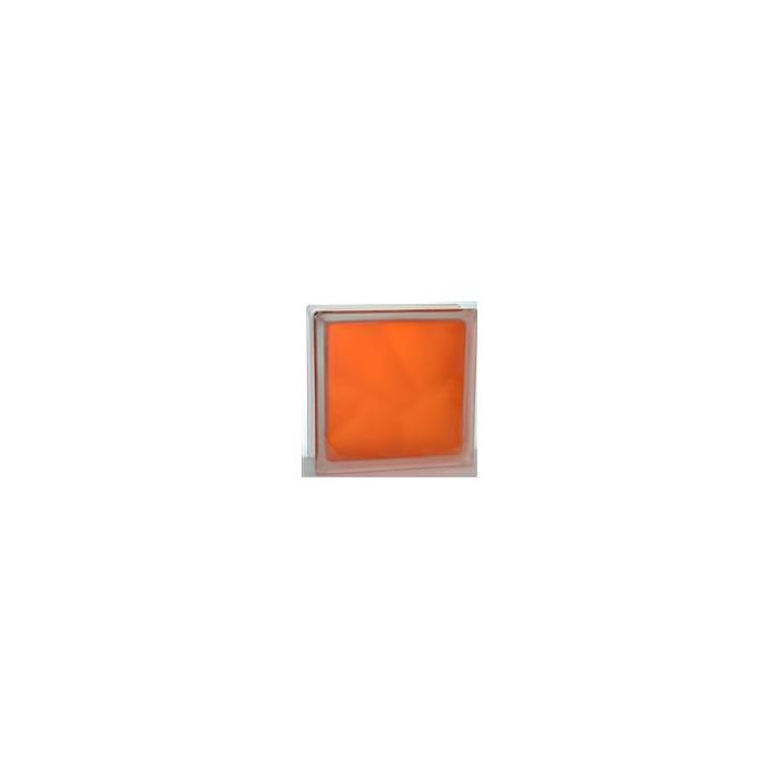 Картинка товара Стеклоблок Волна Оранжевый Яркий Матовый 19х19