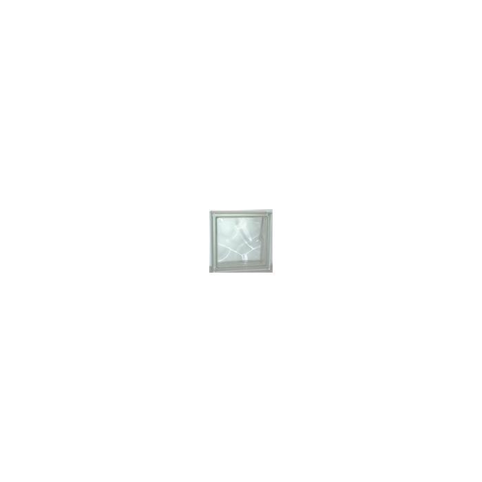 Картинка товара Стеклоблок Волна Нестандартный Бесцветный Прозр. 11х11