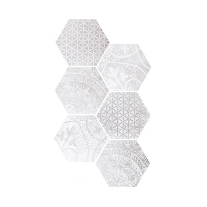 Текстура плитки Ars Mix-1 Bianco-Grigio 26.6x23