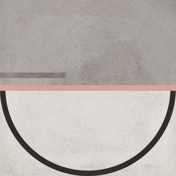 Текстура плитки Buho Brown Decor 22.3x22.3