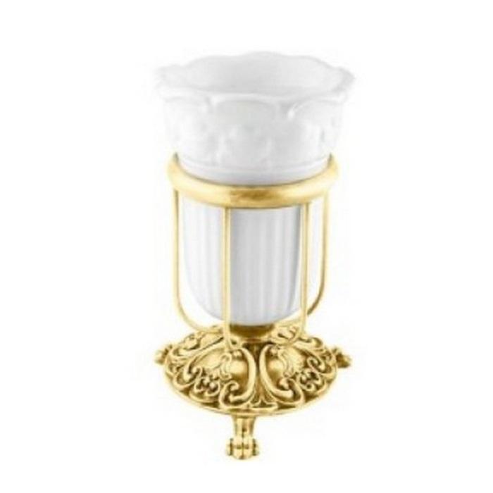 Фото сантехники Elisabetta Стакан настольный , золото/керамика