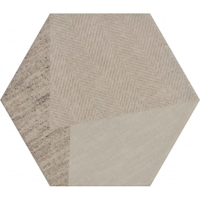 Текстура плитки Esagon Linum Beige Inserto C 17.1x19.8