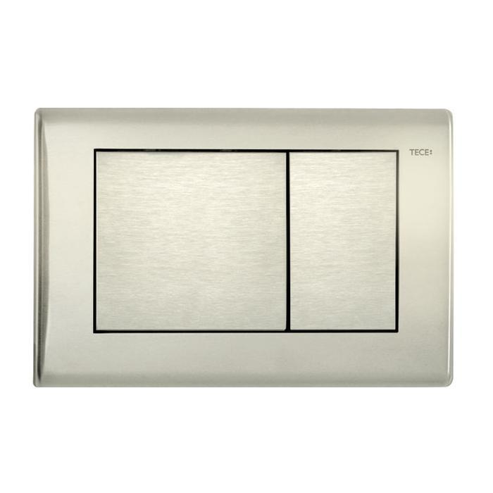 Фото сантехники Tece planus Панель смыва c 2-мя клавишами, нержавеющая сталь-сатин