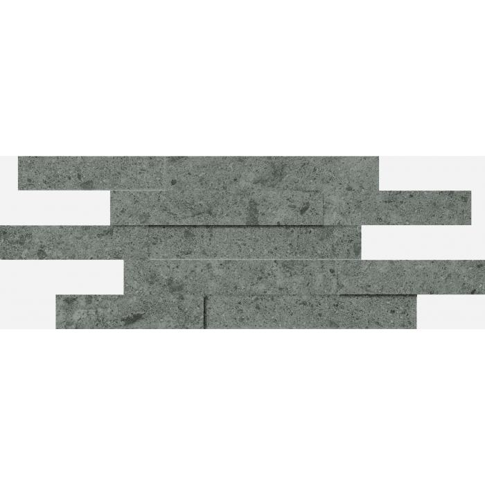 Текстура плитки Дженезис Грей Брик 3Д Нат. 28x78 (0,164м2)