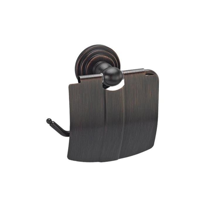 Фото сантехники Isar Держатель для туалетной бумаги с крышкой, темная бронза
