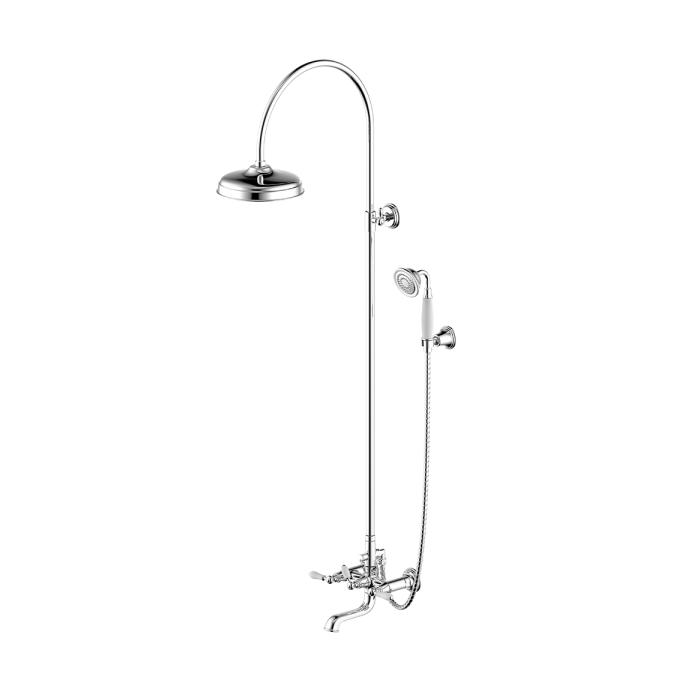 Фото сантехники Art Душевая колонна со смесителем для ванны и ручной лейкой, цвет хром