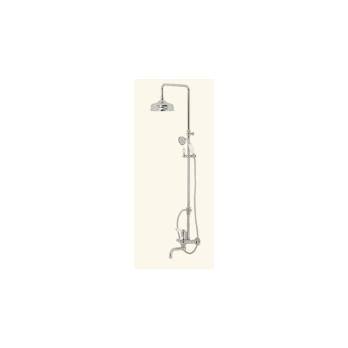 Фото сантехники ERMITAGE Душевой гарнитур (смеситель, душевая колонна, шланг, ручной душ)бронза - 2
