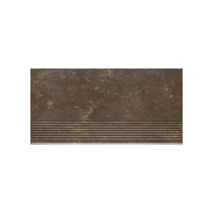 Текстура плитки Ilario Brown Stopnica 30x60