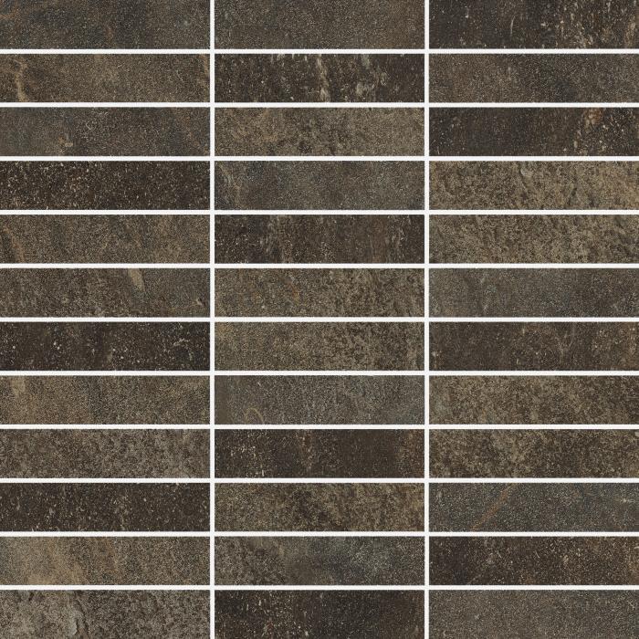 Текстура плитки Дженезис Меркури Браун Мозаика Грид Нат. 30x30