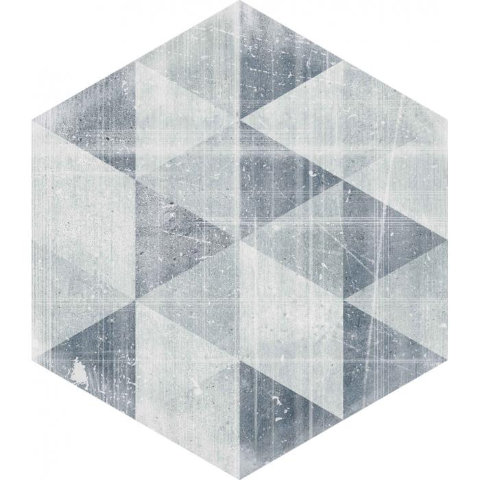 Текстура плитки Hexx Universum Motyw Grigio Heksagon 26x26