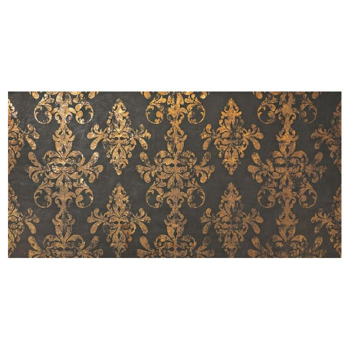 Текстура плитки Ewall Moka Gold Damask 40x80