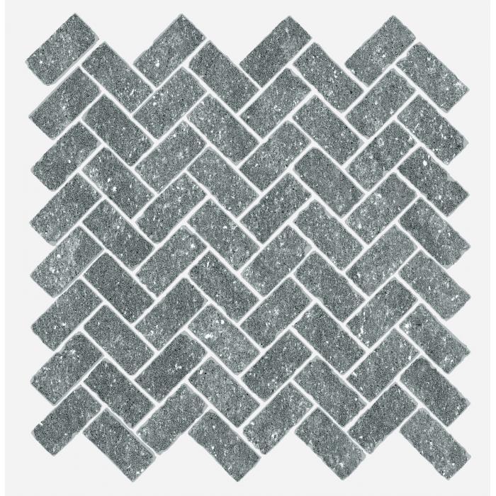 Текстура плитки Дженезис Юпитер Сильвер Мозаика Кросс Нат. 29,7x31,5 (0,078м2/шт)