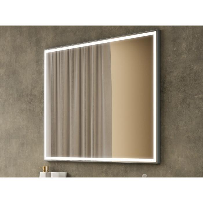Фото сантехники Зеркало 100x80 с подсветкой, прямоугольное