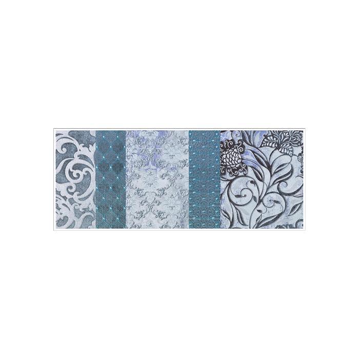 Текстура плитки Shine Turchese Batik Dec.A 24x59 - 2