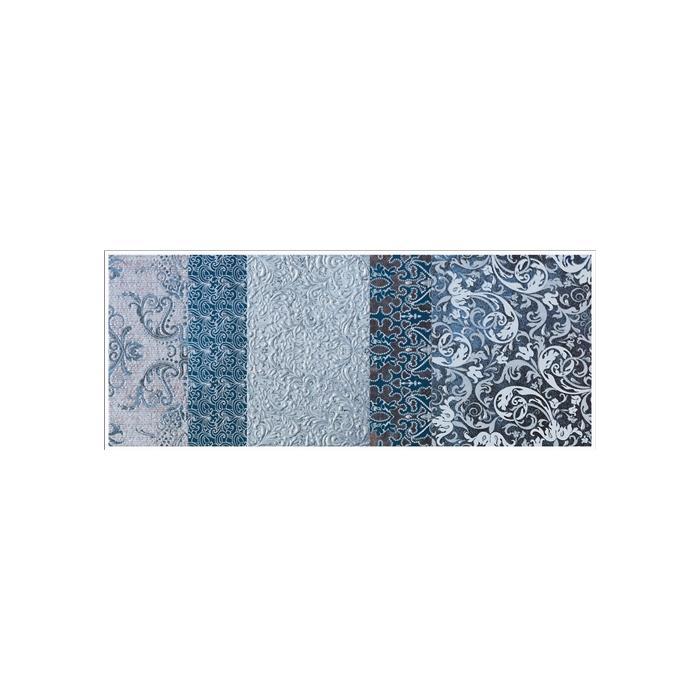 Текстура плитки Shine Turchese Batik Dec.B 24x59 - 2