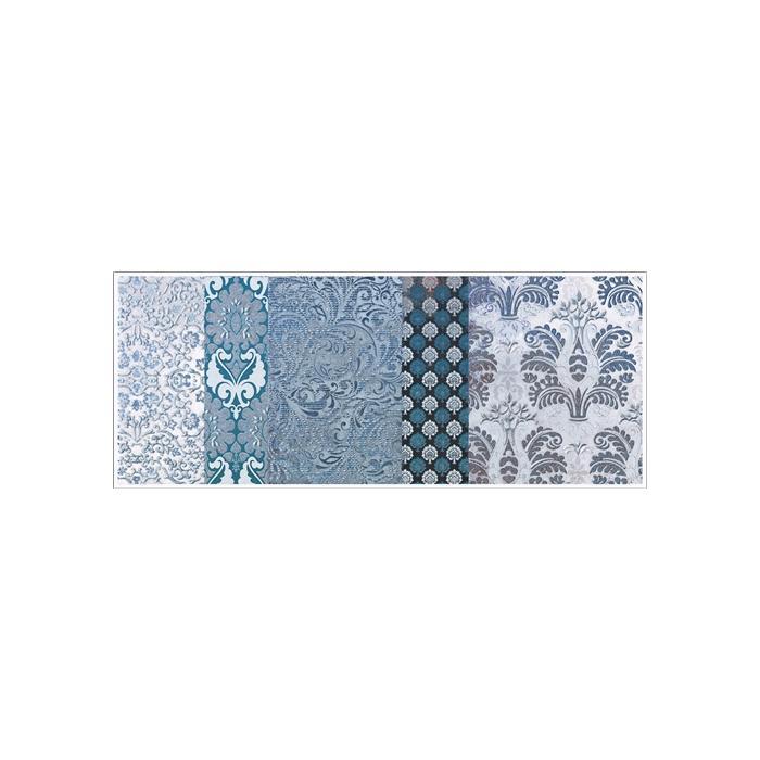 Текстура плитки Shine Turchese Batik Dec.C 24x59 - 2