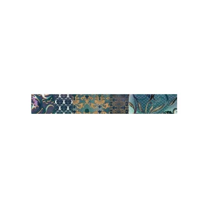 Текстура плитки Shine Turchese Batik List A 8x59 - 2